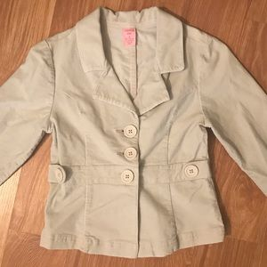 Girls Corduroy Tan Pea Coat